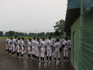 雨の中 足を運んで頂いた宮崎くしまボーイズの皆様、ありがとうございました。